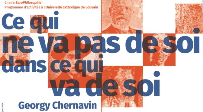 Georgy Chernavin à l'UCL – Programme
